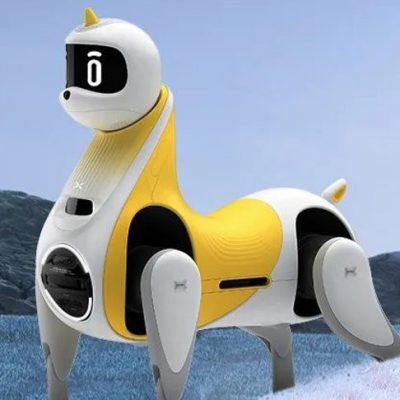 В Китае впервые показали робота-лошадь, на которой можно прокатиться верхом