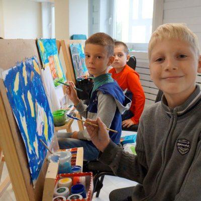 Репортаж из нового корпуса Могилевской детской школы искусств №4, который в этом году открылся на база 46 школы в Казимировке